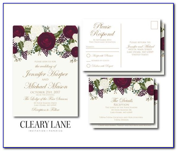 Rsvp Cards For Wedding Template
