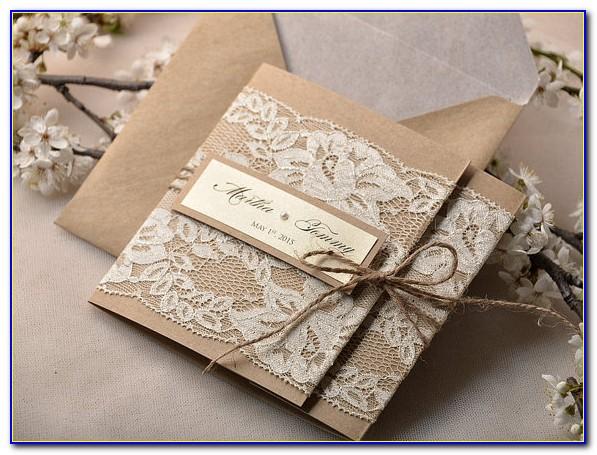 Rustic Wedding Invitation Card
