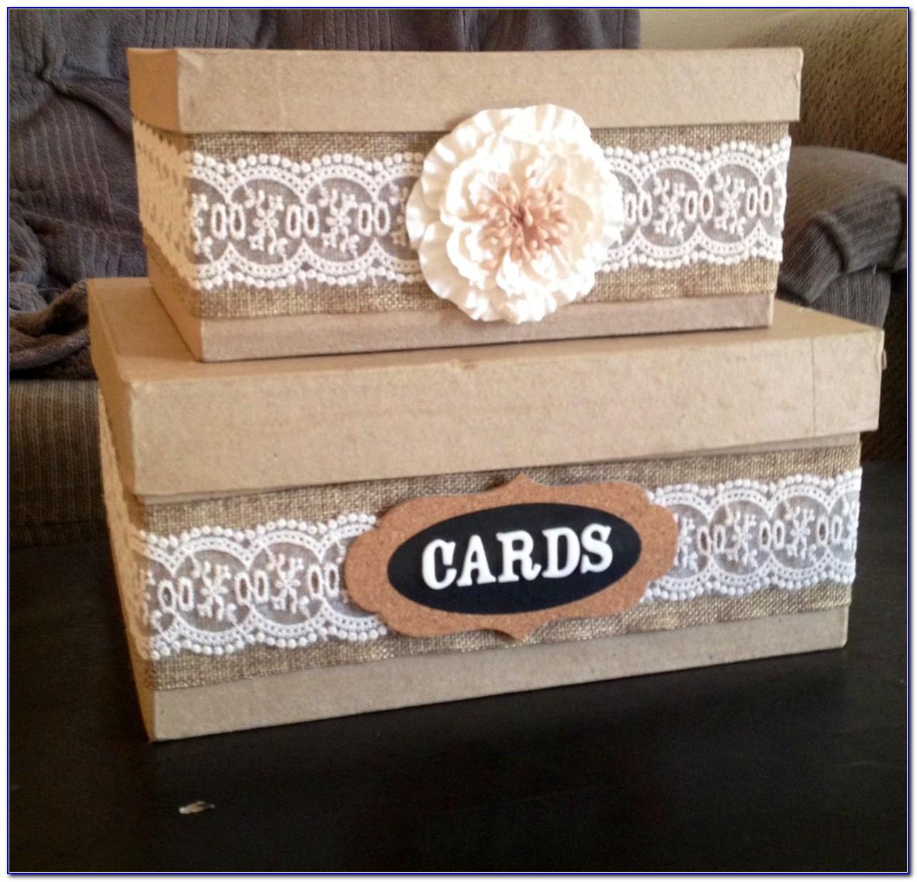 Rustic Wedding Reception Card Box