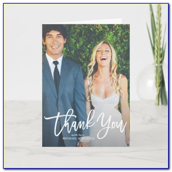 Rustic Wedding Thank You Cards With Photo