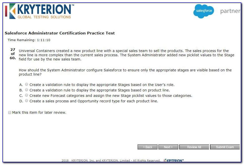 Salesforce Certification Exam Dates