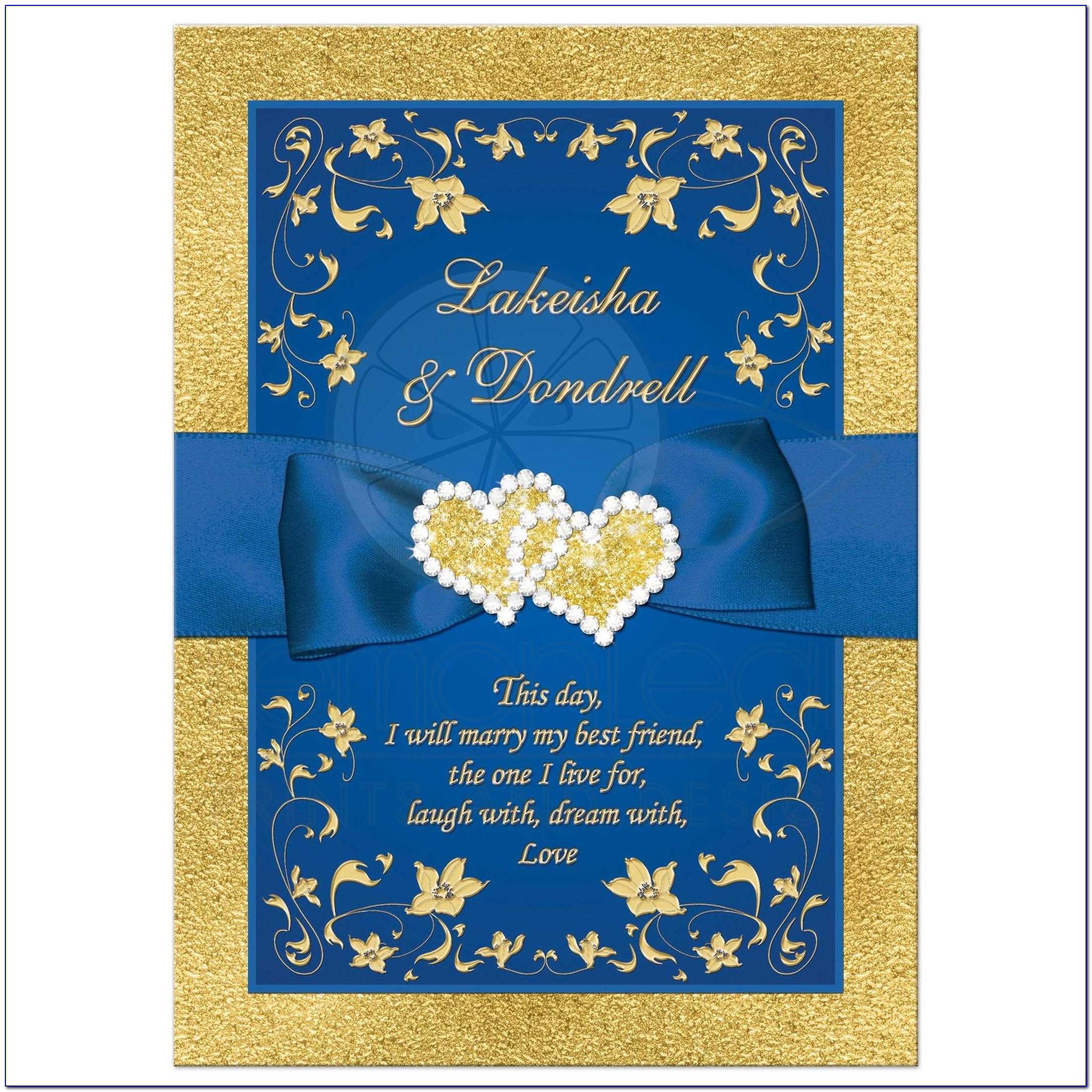Sample Invitation Card For Golden Wedding Anniversary