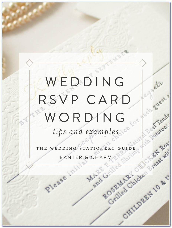 Sample Wording For Wedding Rsvp Cards