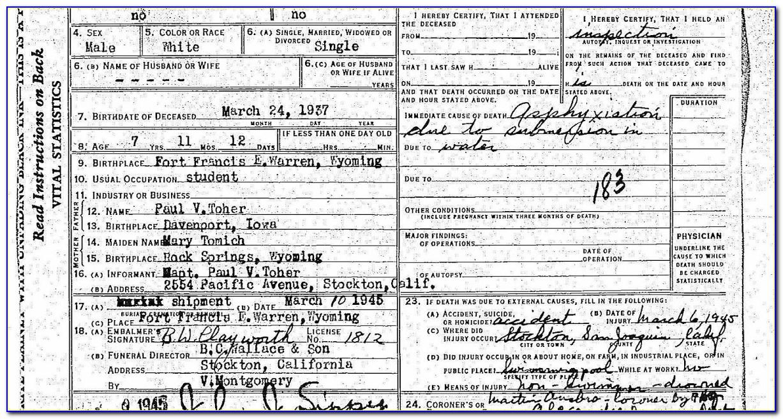 San Joaquin County Ca Birth Certificates