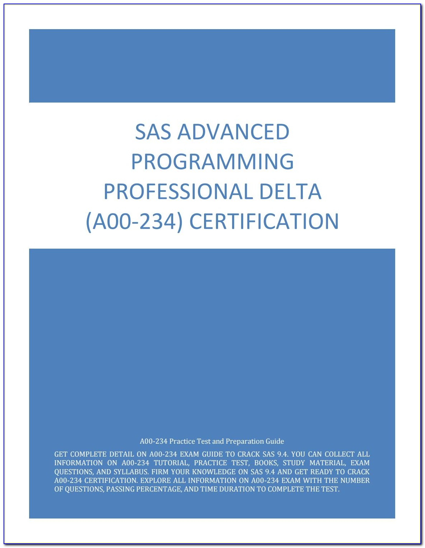 Sas Certification Prep Guide Base Pdf