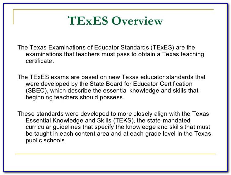 Sbec Teacher Certification Exams