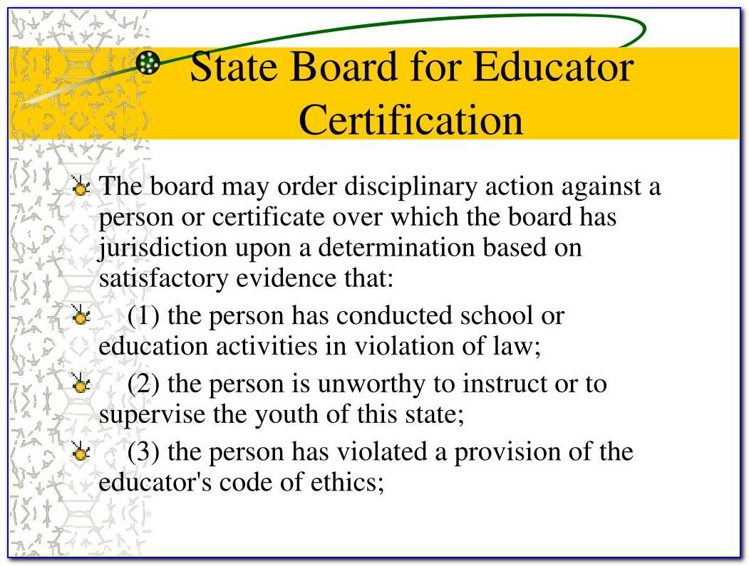 Sbec Teacher Certification Practice Test
