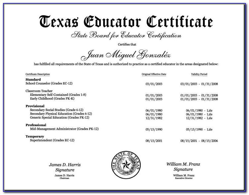 Sbec Teacher Certification Tests