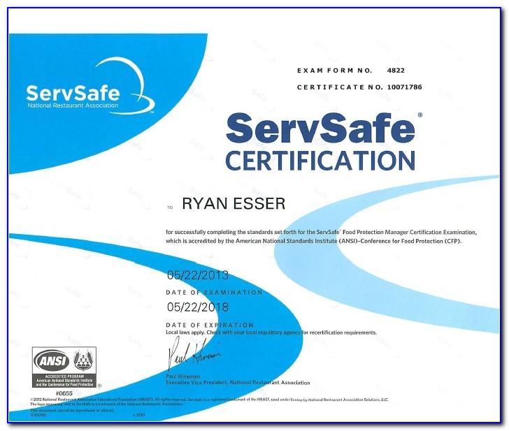 Servsafe Certificate Lookup