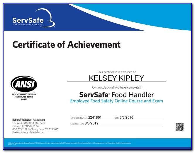 Servsafe Certification Online Free