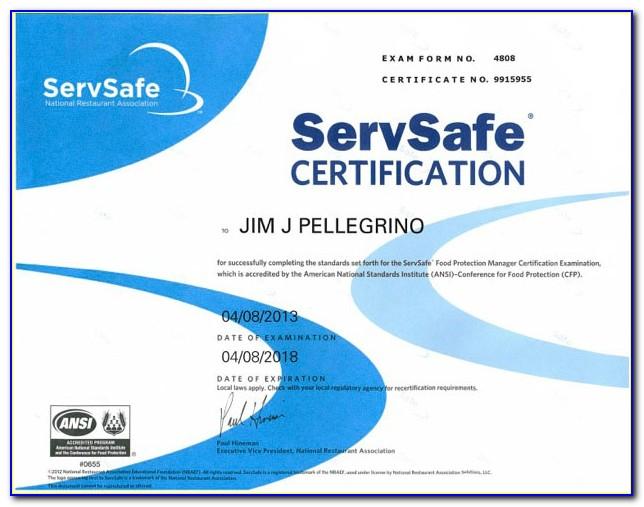 Servsafe Certification Online Indiana