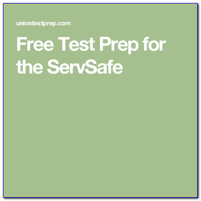 Servsafe Certification Online Test