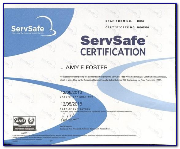 Servsafe Certification Test Online Cost