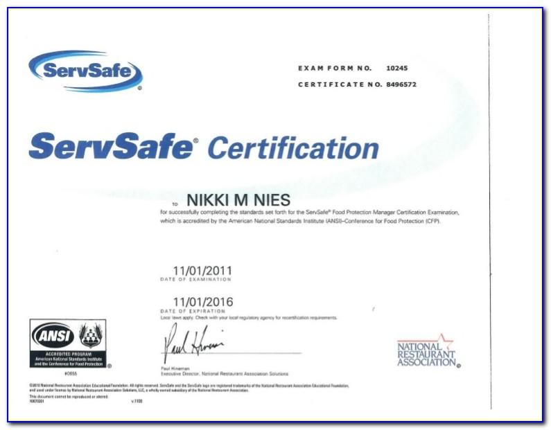 Servsafe Course Online