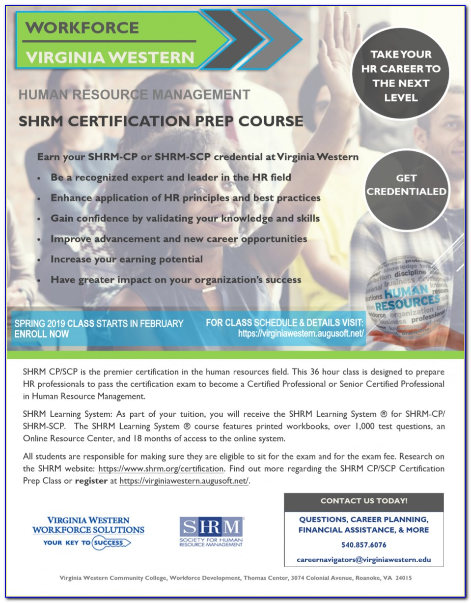 Shrm Certification Classes In Maryland