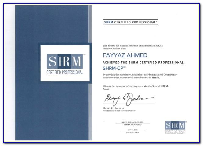 Shrm Certification Classes Near Me