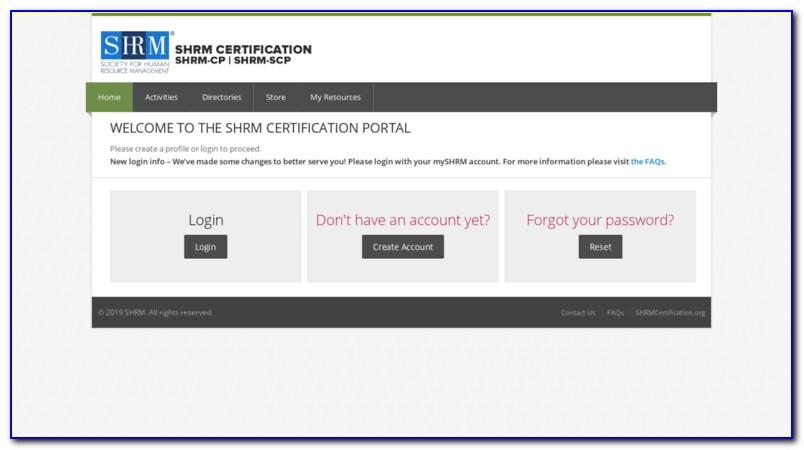 Shrm Certification Portal Login