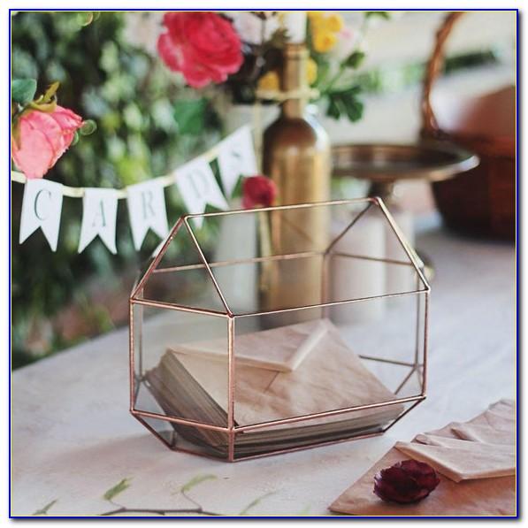 Silver Wedding Gift Card Box