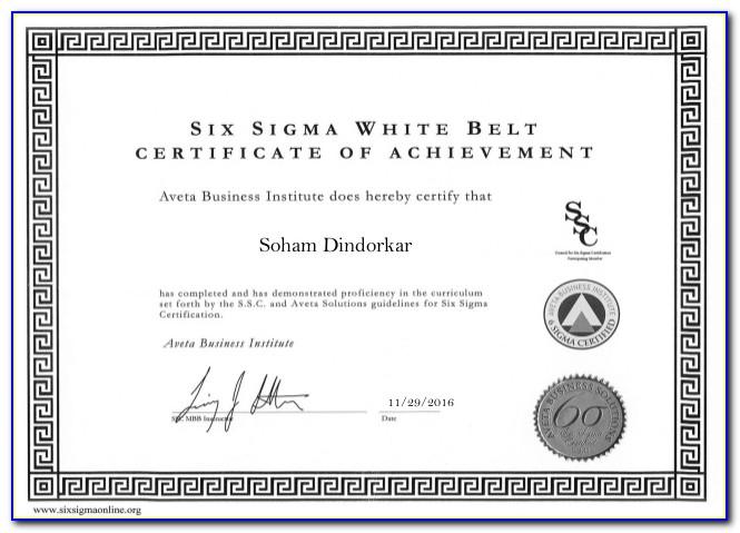 Six Sigma White Belt Certification Fees