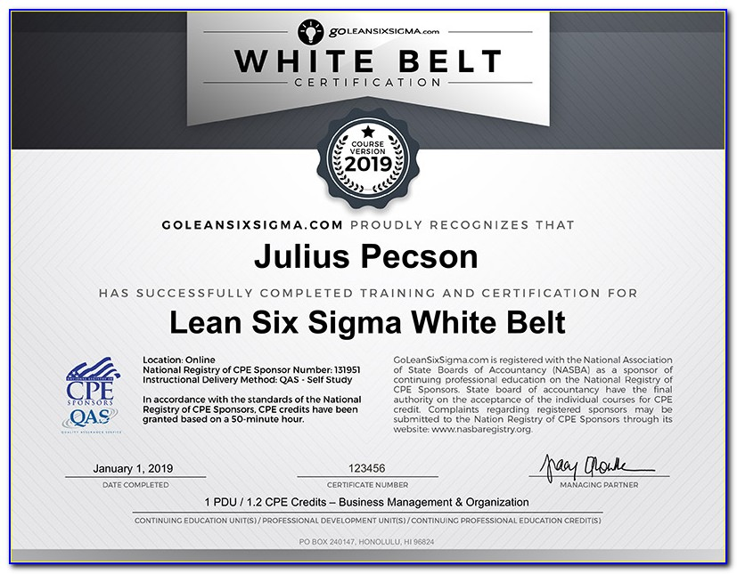 Six Sigma White Belt Certification Online