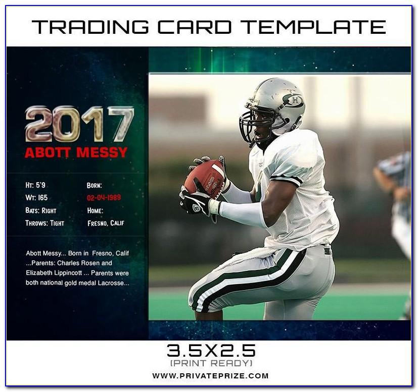 Sports Card Template Pdf