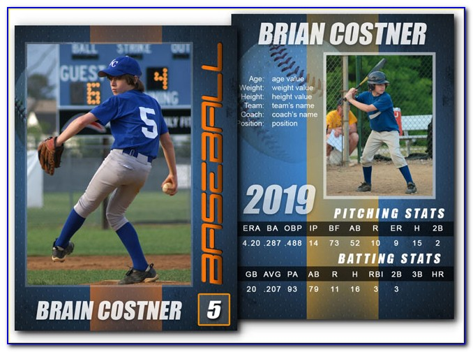 Sports Card Template Photoshop Free