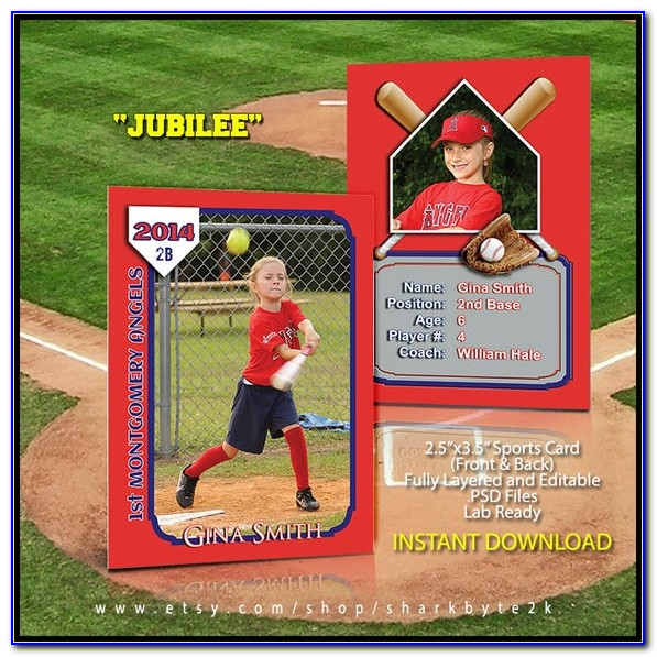 Sports Card Template Photoshop