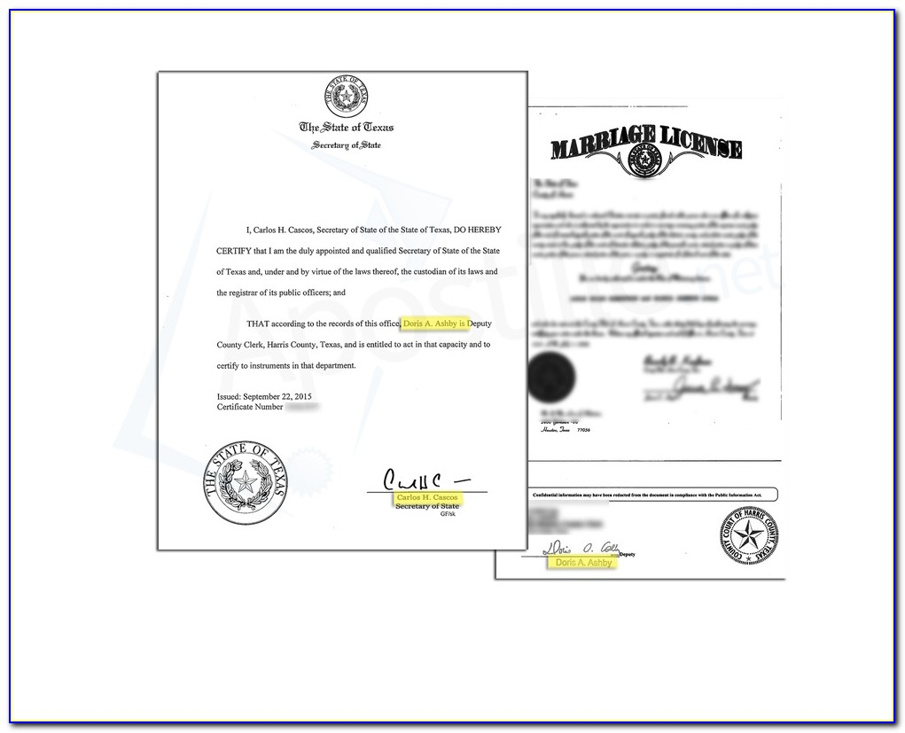 State Of Texas Apostille Birth Certificate