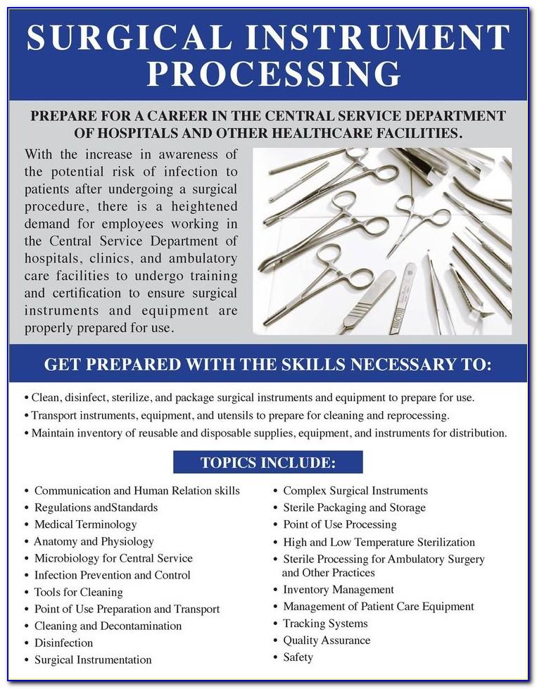 Sterile Processing Technician Certification Florida