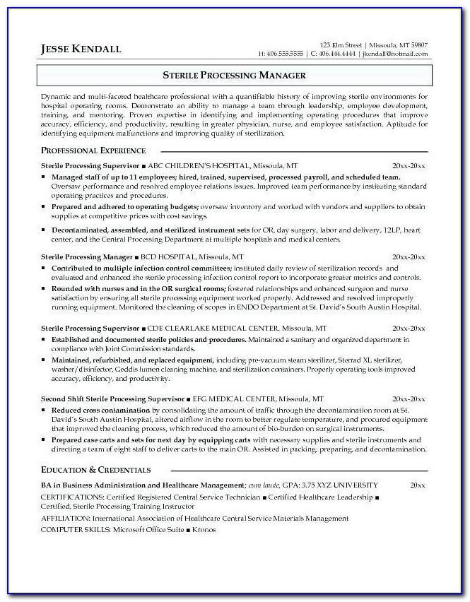 Sterile Processing Technician Certification Oregon