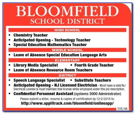 Substitute Teacher Certification Somerset County Nj
