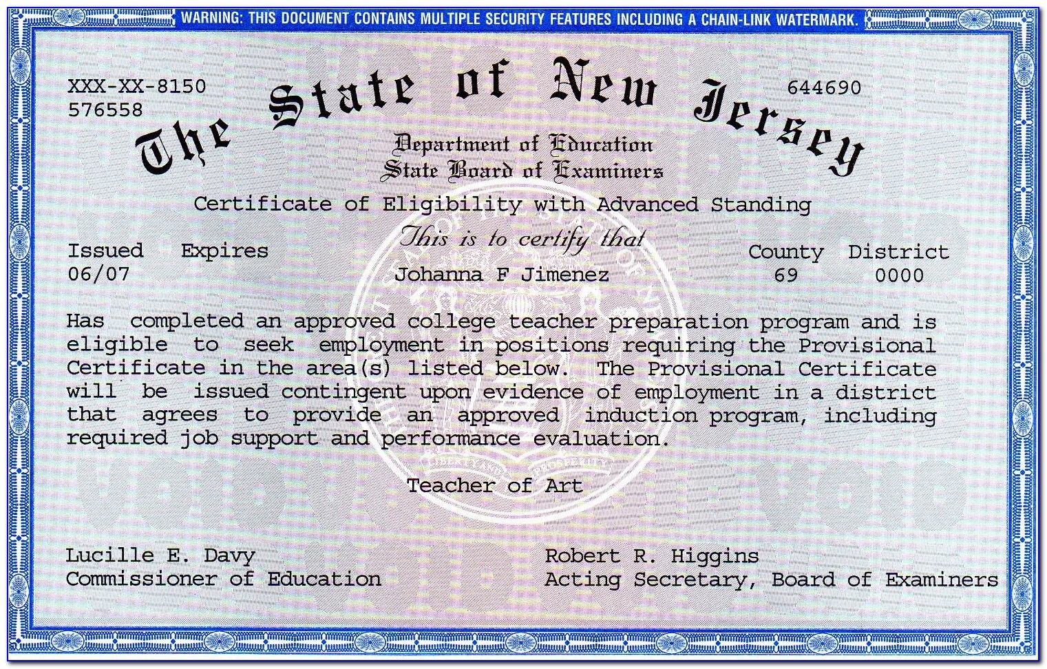 Substitute Teaching Certification Nj