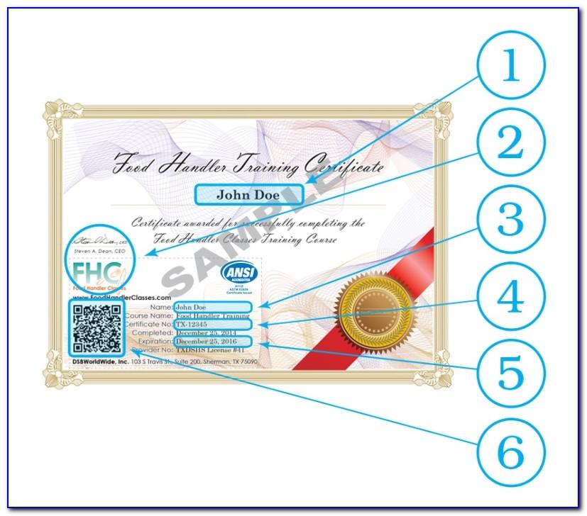Tabc And Food Handlers Card
