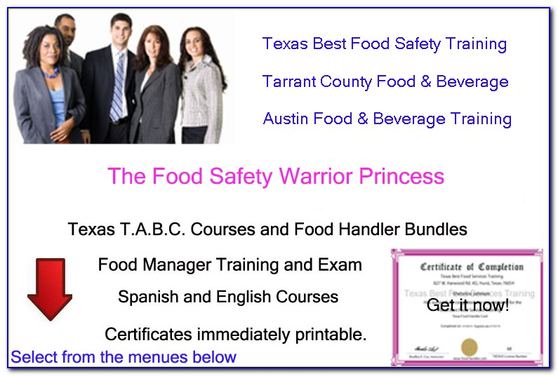 Tabc And Food Handlers License Texas