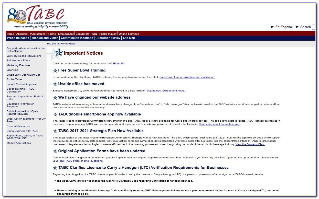 Tabc Certification Lookup
