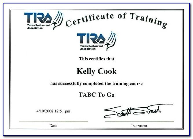 Tabc Certification Online Cheap