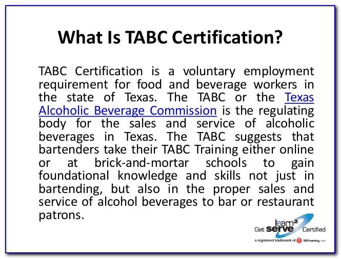 Tabc Certification Online En Espanol