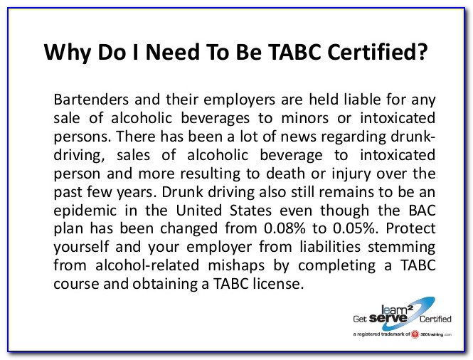 Tabc Certification Online Spanish