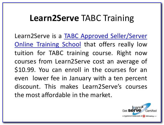 Tabc Certification Online Verification