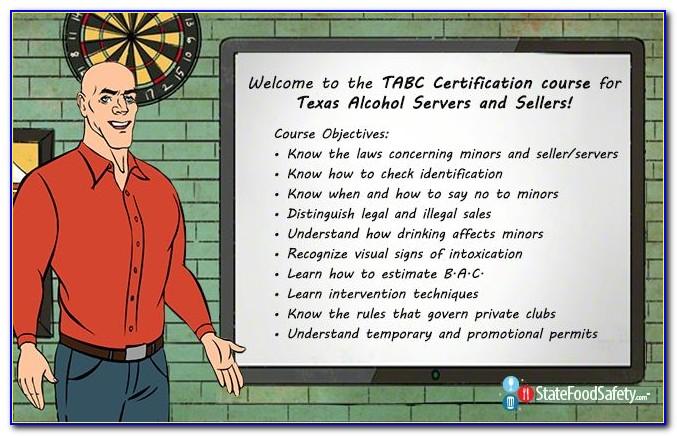 Tabc Certification Program Near Me
