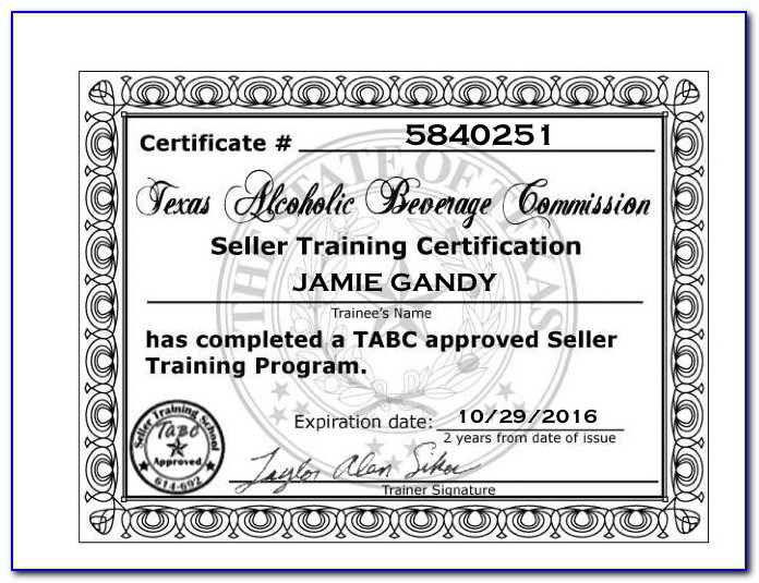 Tabc Certification Texas Online