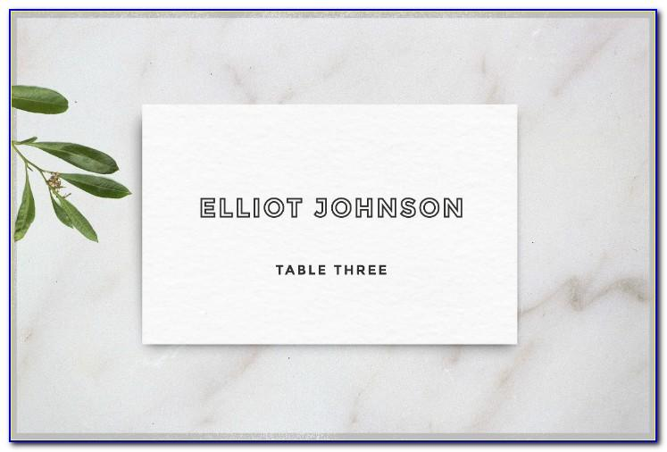 Table Card Template Indesign