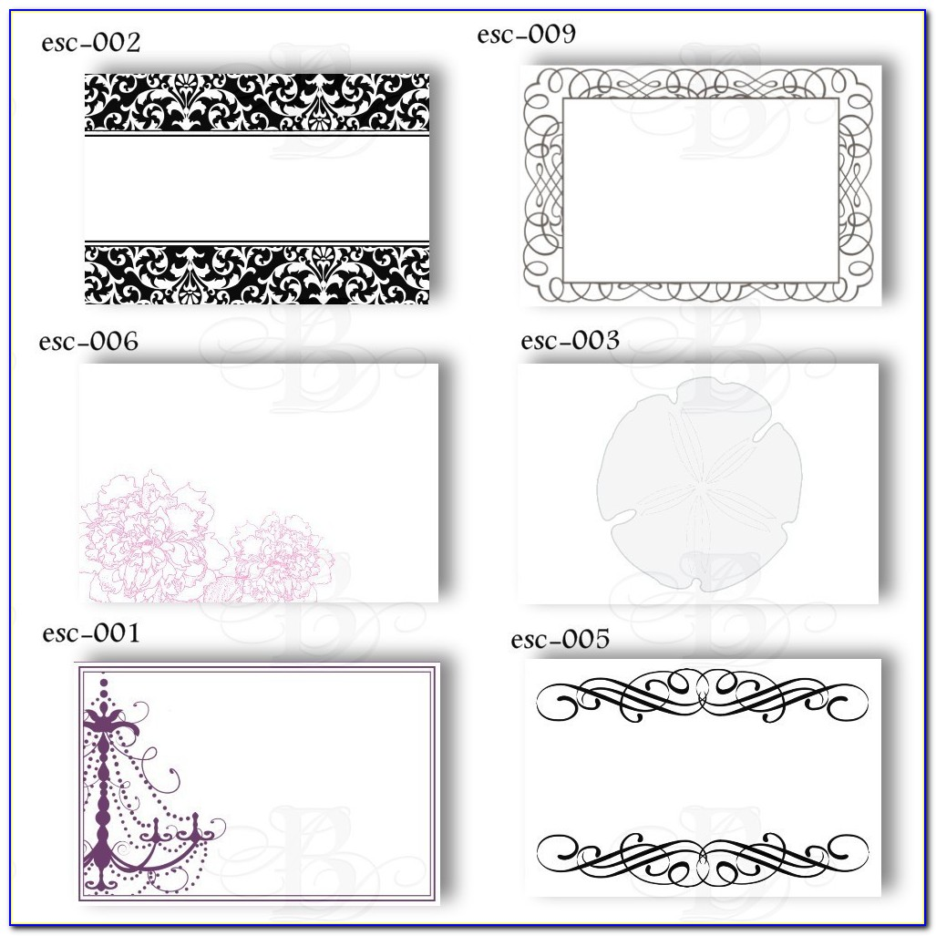 Table Place Cards Template Birthday