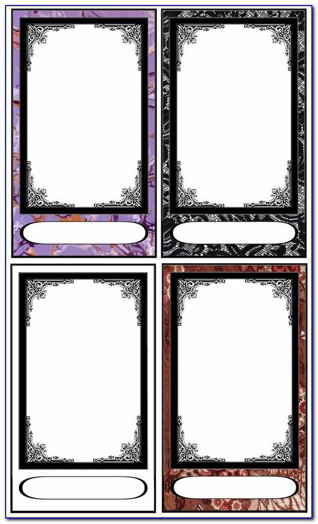 Tarot Card Template Free Download