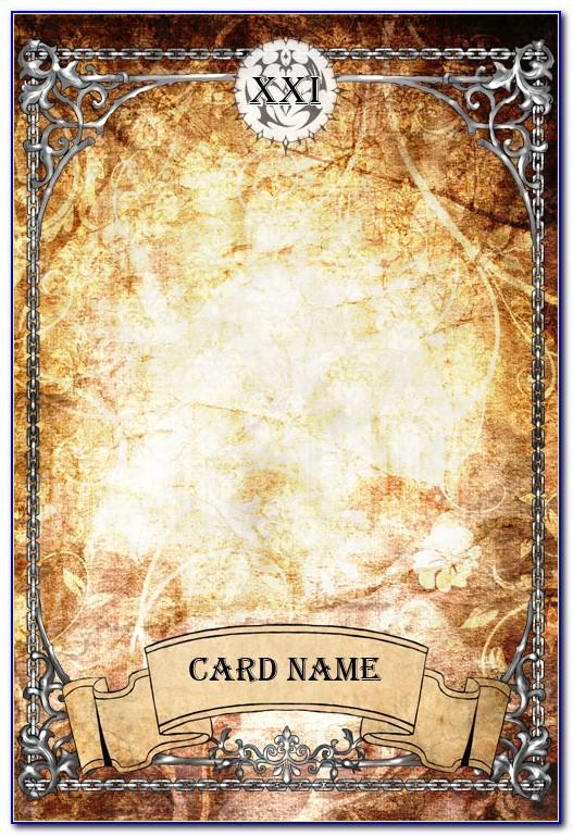 Tarot Card Template Photoshop