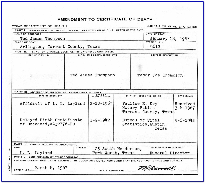 Tarrant County Birth Certificate Arlington Tx