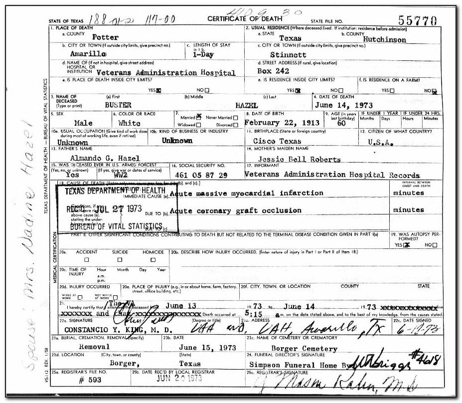 Tarrant County Clerk Birth Certificate
