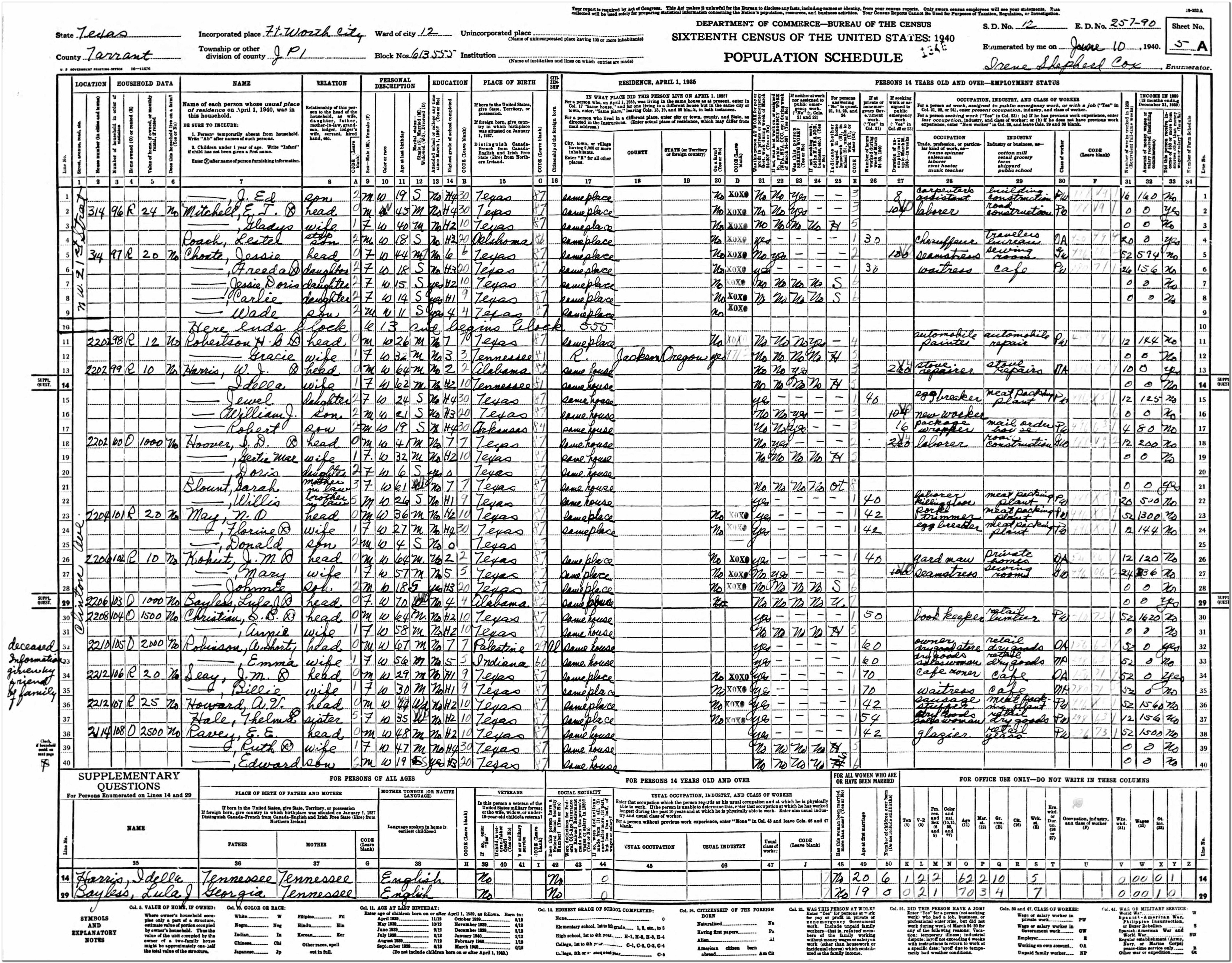 Tarrant County Courthouse Birth Certificate
