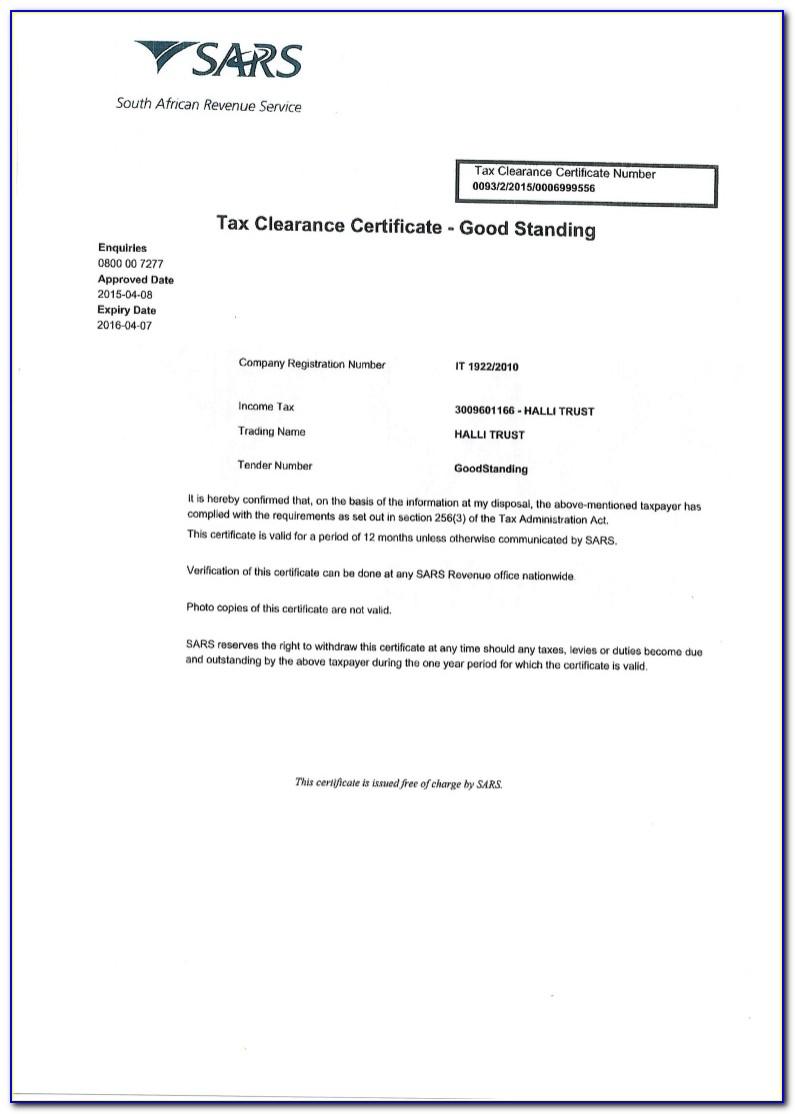 Tax Clearance Certificate Panama
