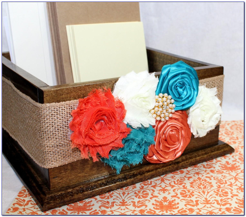 Teal Wedding Card Box